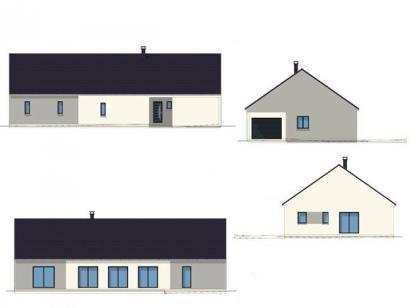 Plan de maison PLP_L_GI_150m2_3ch_P8242 3 chambres  : Photo 1