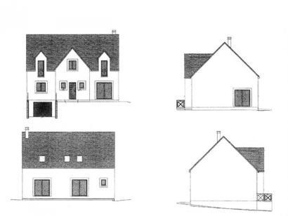 Plan de maison ETG_R_SS_160m2_4ch_P15159 4 chambres  : Photo 1