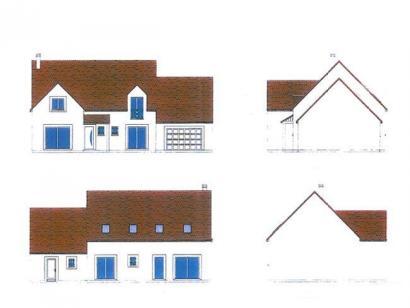 Plan de maison ETG_L_GA_182m2_6ch_P14298 6 chambres  : Photo 1