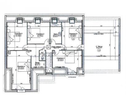 Plan de maison ETG_L_GA_182m2_6ch_P14298 6 chambres  : Photo 3