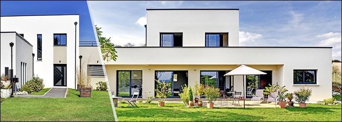 Plan de maison cubique par Maisons France Confort