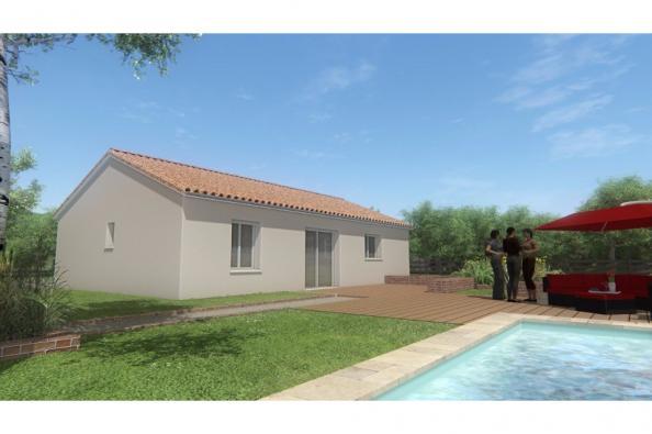 Modèle de maison MAISON DE PLAIN PIED - DE 66 M 2 - HAUTE-VIENNE AC 2 chambres  : Photo 2