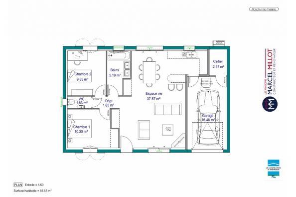 Modele De Maison Maison De Plain Pied 66 A 76 M2 Correze Et