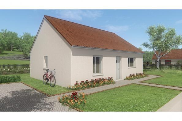 Modèle de maison MAISON DE PLAIN PIED- 66 A 76 M2 - CREUSE - ACACIA 2 chambres  : Photo 1