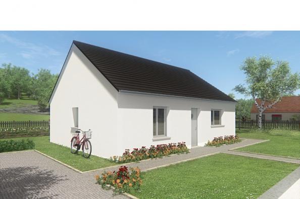 Modèle de maison MAISON DE PLAIN PIED - 66 A 76 M2 - CORRÈZE - LOT 2 chambres  : Photo 1