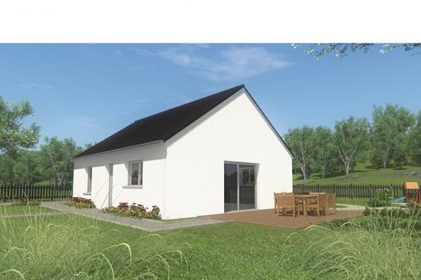 Modèle de maison MAISON DE PLAIN PIED - 66 A 76 M2 - CORRÈZE - LOT 2 chambres  : Photo 3