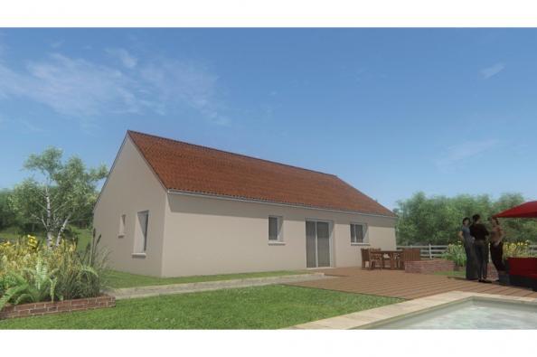 Modèle de maison MAISON DE PLAIN PIED - 75 M2 - CREUSE - ACACIA 5 3 chambres  : Photo 2