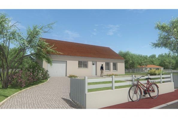 Modèle de maison MAISON DE PLAIN PIED - 75 M2 - CREUSE - ACACIA 5 3 chambres  : Photo 3