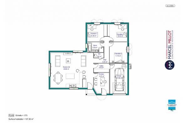 Modèle De Maison Maison Plain Pied 108 M2 Corrèze Nord
