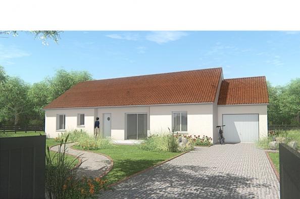 Modèle de maison MAISON DE PLAIN PIED - 110 M2 - CREUSE - FAMILY 6 3 chambres  : Photo 1