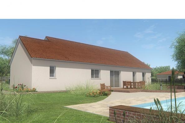 Modèle de maison MAISON DE PLAIN PIED - 110 M2 - CREUSE - FAMILY 6 3 chambres  : Photo 2