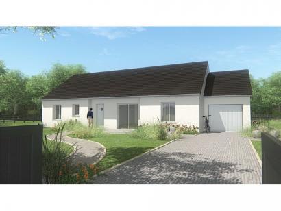 Mod le de maison maison de plain pied 110 m2 corr ze nord du 3 chambres maisons france - Modele maison plain pied 3 chambres ...