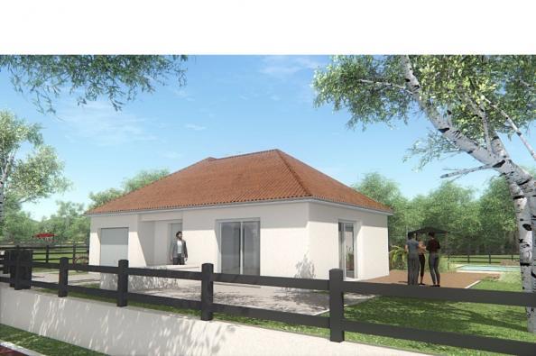 Modèle de maison MAISON DE PLAIN PIED - 78 M 2 - CREUSE - LENA 4 2 chambres  : Photo 1