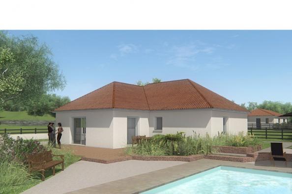 Modèle de maison MAISON DE PLAIN PIED - 78 M 2 - CREUSE - LENA 4 2 chambres  : Photo 2