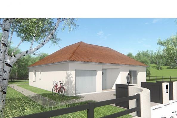Modèle de maison MAISON DE PLAIN PIED - 78 M 2 - CREUSE - LENA 4 2 chambres  : Photo 3