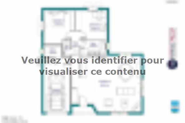 Plan de maison MAISON DE PLAIN PIED - 78 M 2 - CORRÈZE, NORD DU L 2 chambres  : Photo 1