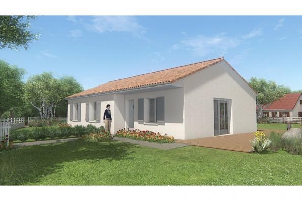 Modèle de maison MAISON SUR SOUS-SOL - 87 M 2 - HAUTE-VIENNE - MERC 3 chambres  : Photo 1