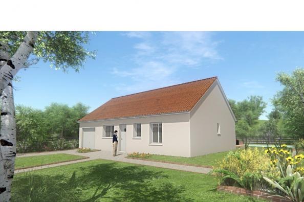 Modèle de maison MAISON DE PLAIN PIED - 66 M 2 - CREUSE - ACACIA 4 2 chambres  : Photo 1