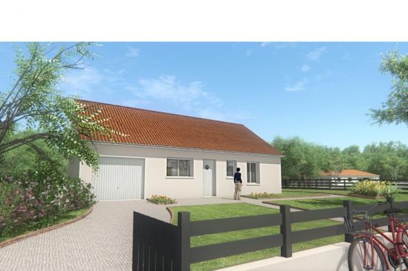 Modèle de maison MAISON DE PLAIN PIED - 66 M 2 - CREUSE - ACACIA 4 2 chambres  : Photo 3