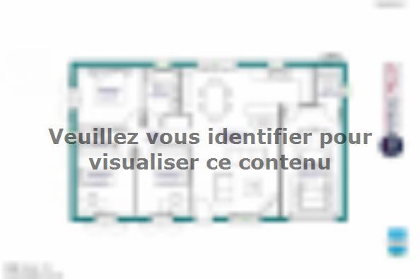 Plan de maison MAISON DE PLAIN PIED - 98 M 2 - HAUTE-VIENNE - ACC 3 chambres  : Photo 1