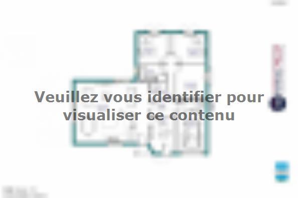 Plan de maison MAISON DE PLAIN PIED - 108 M 2 - CREUSE - ACCORD 6 3 chambres  : Photo 1