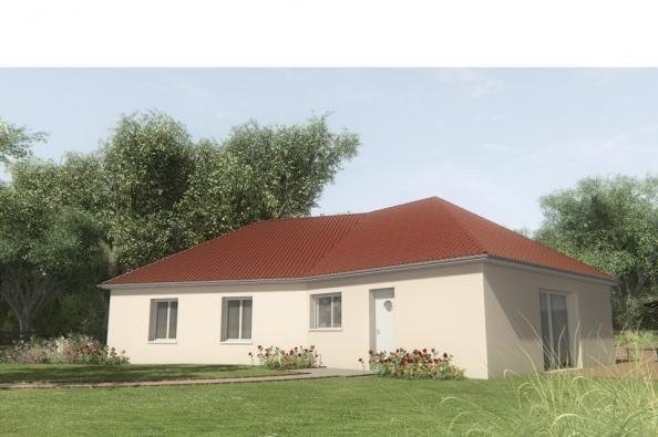 Modèle de maison MAISONS SUR SOUS-SOL - 100 M2 - HAUTE-VIENNE - ELL 4 chambres  : Photo 1
