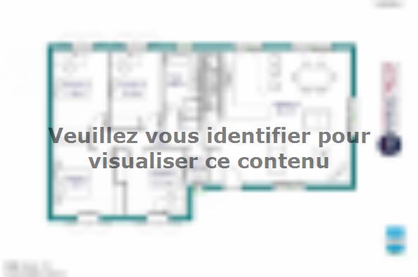 Plan de maison MAISON SUR SOUS-SOL - 103 M 2 - HAUTE-VIENNE - GAR 4 chambres  : Photo 1