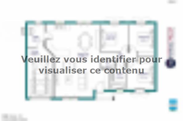 Plan de maison MAISON PLAIN PIED- 90 M 2 - HAUTE-VIENNE - PRIMA 5 3 chambres  : Photo 1