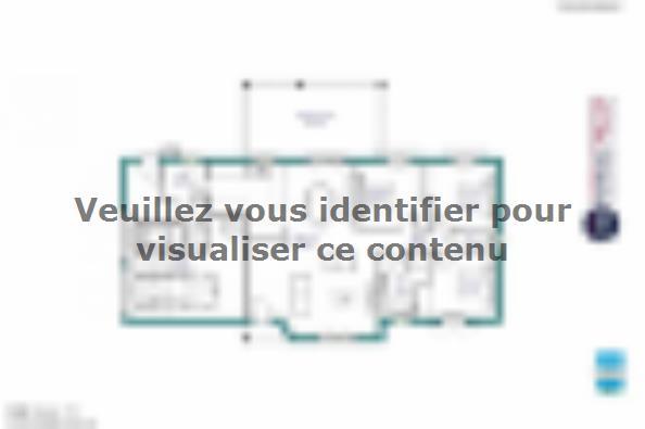 Plan de maison MAISON PLAIN PIED - 96 M 2 - HAUTE- VIENNE - STAR 3 chambres  : Photo 1