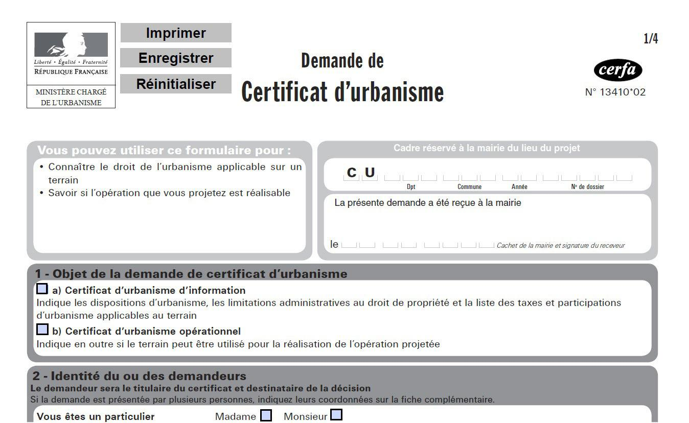 Certificat d'Urbanisme