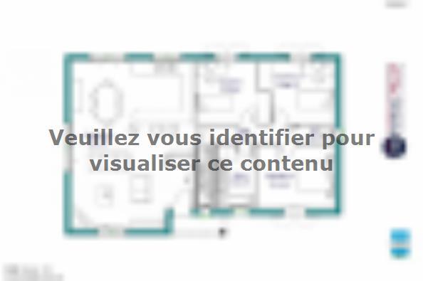 Plan de maison MAISON SUR SOUS-SOL - 94 M 2 - CREUSE - STERRIA 5 3 chambres  : Photo 1