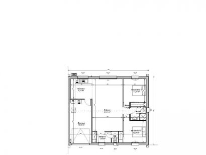 Plan de maison Maison 71 m2 - 2CH - Garage - 110666ROY 2 chambres  : Photo 1