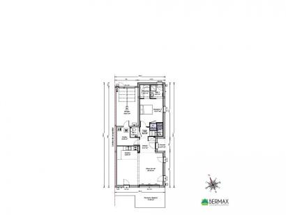Plan de maison Maison 109 m2 - 3CH - Garage - 749140THU 3 chambres  : Photo 1