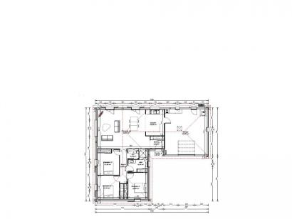 Plan de maison Maison 105 m2 - 3CH - Garage - 164891JAC 3 chambres  : Photo 1