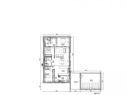 Plan de maison Maison 123 m2 - 3CH - Garage - 1933121LIF 3 chambres  : Photo 1