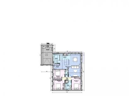 Plan de maison Maison 94 m2 - 3CH - Garage - 125984BON 3 chambres  : Photo 1