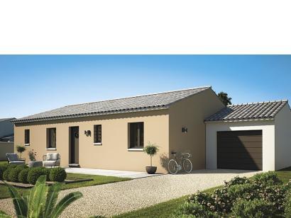 Modèle de maison Amandine GA V1 80 Design 3 chambres  : Photo 2