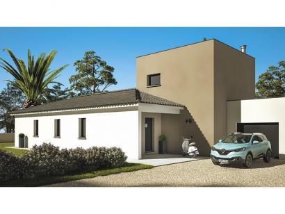 Modèle de maison Cloé 150 Design Toit 4 pentes 4 chambres  : Photo 2