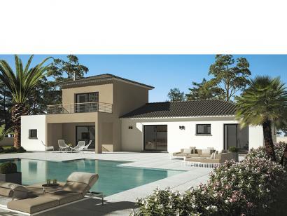 Modèle de maison Cloé 150 Design Toit plat 4 chambres  : Photo 1