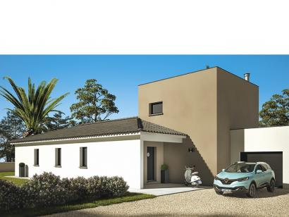 Modèle de maison Cloé 150 Design Toit plat 4 chambres  : Photo 2
