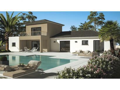 Modèle de maison Cloé 95 Design Toit 4 pentes étage 3 chambres  : Photo 1