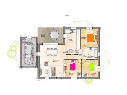 Maison neuve  à  Fontaines (85200)  - 177349 € * : photo 1