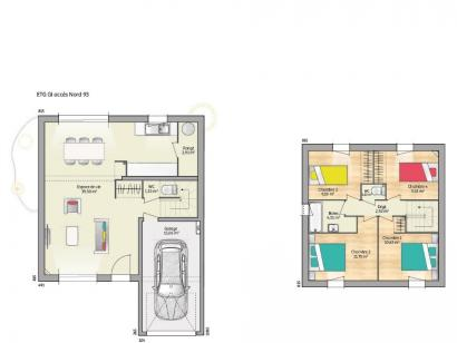 Plan de maison OPEN ETAGE GI 93 TRADITION 4 chambres  : Photo 1