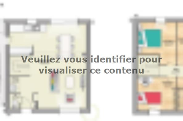 Plan de maison OPEN ETAGE GA 91 DESIGN 4 chambres  : Photo 1