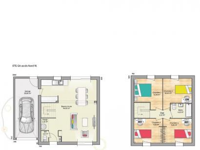 Plan de maison OPEN ETAGE GA 91 TRADITION 4 chambres  : Photo 1
