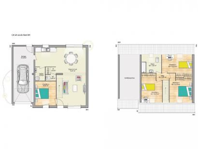 Plan de maison OPEN CA GA 89 ELEGANCE 4 chambres  : Photo 1