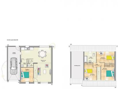 Plan de maison OPEN CA GA 89 DESIGN 4 chambres  : Photo 1