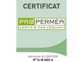 Nous venons de décrocher la certification PRO PERMEA !