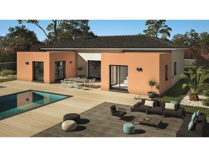 Mod le de maison patio 140 design 3 chambres les for Modele de maison en u