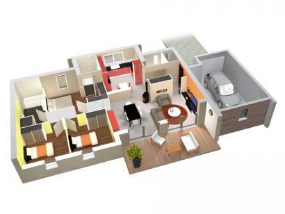 Modèle de maison IMAGINE 2 3 chambres  : Photo 3